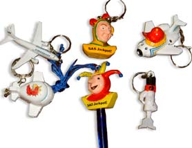 special molded keyrings 